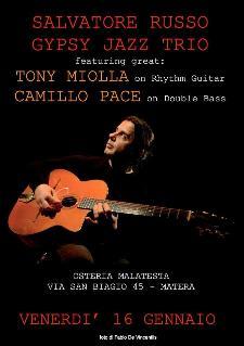 Concerti d' Osteria: Gypsy Jazz Trio - 16 Gennaio 2015 - Matera
