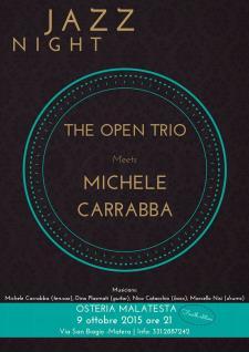 Concerti d'Osteria: Open trio & Michele Carrabba - Matera