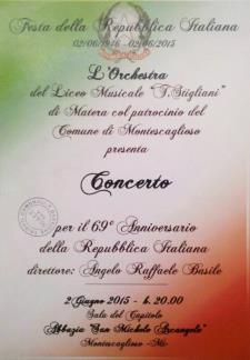 Concerto Festa della Repubbica Italiana Liceo Musicale - 2 Giugno 2015 - Matera