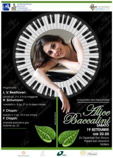 """Concerto per pianoforte """"Alice Baccalini"""" - 19 Settembre 2015 - Matera"""