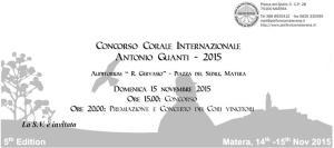 """Concorso Corale Internazionale """"Antonio Guanti"""" 2015 - Matera"""