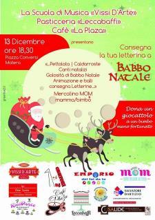 Consegna la tua letterina a Babbo Natale  - 13 Dicembre 2015 - Matera