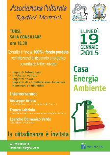 Contributi per interventi di risparmio energetico su unità abitative private - 19 Gennaio 2015 - Matera