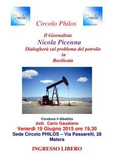Dialogo sul problema del petrolio in Basilicata  - Matera