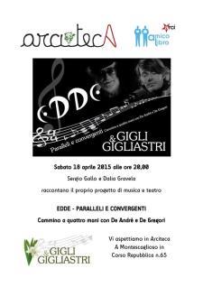 EDDE - Paralleli e convergenti - 18 Aprile 2015 - Matera