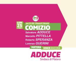 Elezioni 2015: comizio del Partito Democratico - 25 Maggio 2015 - Matera