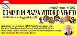 Elezioni 2015: comizio in piazza con i parlamentari M5S - 26 Maggio 2015 - Matera