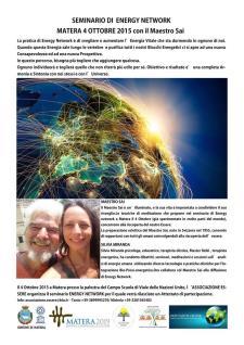 ENERGY NETWORK - 4 Ottobre 2015 - Matera