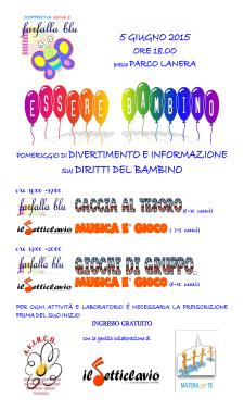 Essere Bambino - 5 Giugno 2015 - Matera