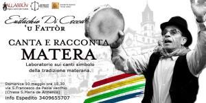 Eustachio Di Cecca canta e racconta - 10 Maggio 2015 - Matera