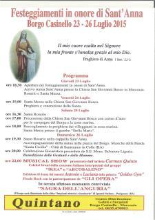 Festeggiamenti in onore di S. Anna  - Matera