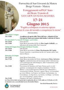 Festeggiamenti in onore di San Giovanni da Matera  - Matera