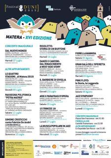 FESTIVAL DUNI XVI edizione - Matera