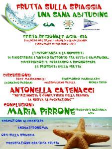 Frutta sulla spiaggia una sana abitudine . 9 Agosto 2015 - Matera