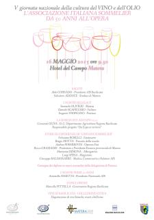 Giornata della cultura del vino e dell'olio - 16 Maggio 2015 - Matera