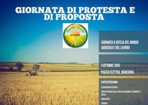 Giornata di protesta e di proposta per il rilancio dell'agricoltura - 4 Ottobre 2015 - Matera