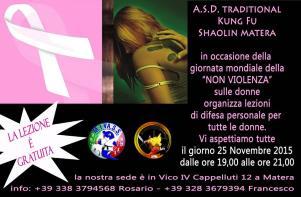 """Giornata mondiale della """"NON VIOLENZA"""" - Matera"""