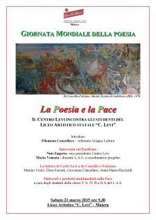 Giornata Mondiale della Poesia - 21 Marzo 2015 - Matera