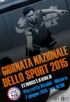 Giornata nazionale dello Sport 2015 - 7 Giugno 2015 - Matera