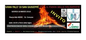 Gran Falo' di San Giuseppe - 19 Marzo 2015 - Matera