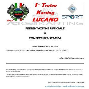 """I """"Trofeo Karting Lucano""""  - 28 Marzo 2015 - Matera"""