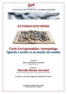 """Il """"Compleanno di Levi"""" - 30 Novembre 2015 - Matera"""