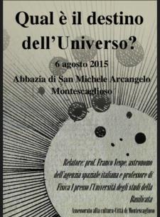 Il Destino dell'Universo - 6 Agosto 2015 - Matera