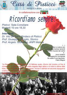 Il Giorno del Ricordo - 10 Febbraio 2015 - Matera