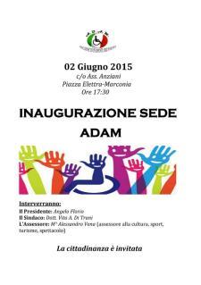 Inaugurazione Sede ADAM  - Matera
