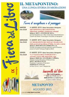 IX Fiera del libro 2015 - Matera