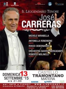 Josè Carreras - 13 Settembre 2015 - Matera