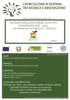 L'agricoltura di domani tra ricerca e innovazione - 30 Giugno 2015 - Matera