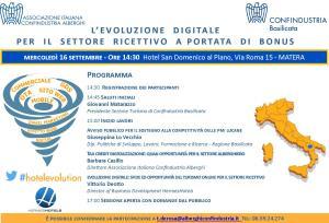 L'evoluzione digitale per il settore ricettivo a portata di bonus - 16 Settembre 2015 - Matera