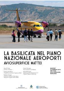 La Basilicata nel Piano nazionale degli aeroporti - L'aviosuperficie Mattei  - Matera