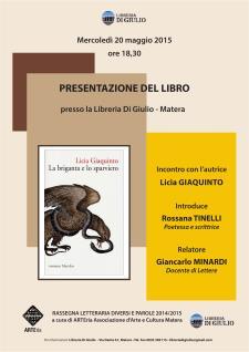 La briganda e lo sparviero - 20 Maggio 2015 - Matera