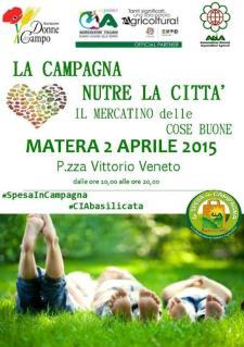 La campagna nutre la città, il mercatino delle cose buone - 2 Aprile 2015 - Matera