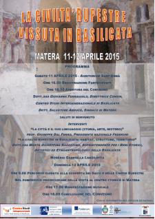 La civiltà rupestre vissuta in Basilicata  - Matera