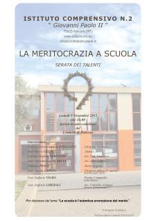La meritocrazia a scuola - 9 Novembre 2015 - Matera