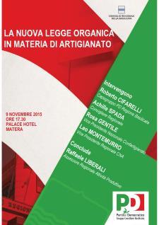 La nuova legge organica in materia di artigianato - 9 Novembre 2015 - Matera