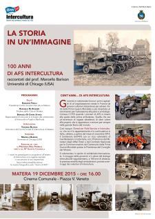 La Storia in un'immagine: 100 anni di AFS Intercultura - 19 Dicembre 2015 - Matera