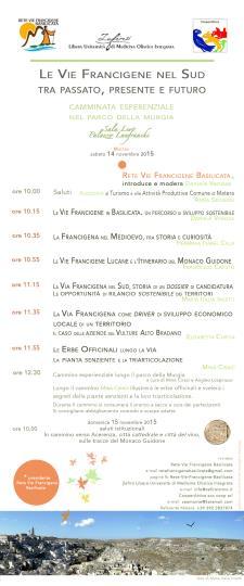Le Vie Francigena nel sud, tra passato presente e futuro - 14 Novembre 2015 - Matera