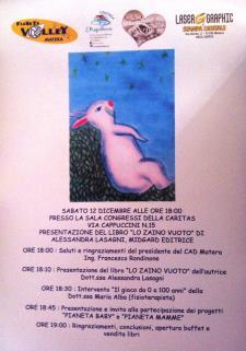 Lo zaino vuoto - 12 Dicembre 2015 - Matera