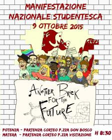 Manifestazione Nazionale Studentesca - 9 ottobre 2015 - Matera