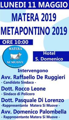 Matera2019-Metapontino 2019. Una proposta di sviluppo turistico integrato  - Matera