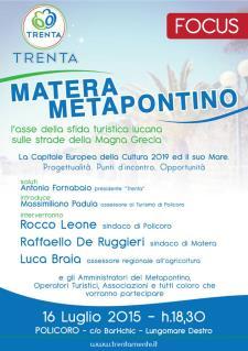 Matera - Metapontino: l'asse della sfida turistica lucana sulle strade della Magna Grecia  - Matera