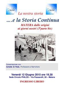 MATERA dalle origini ai giorni nostri (3aparte bis) - Matera