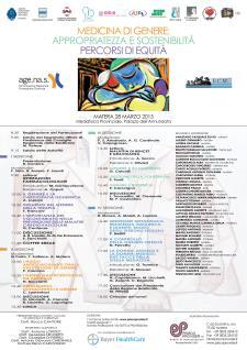 MEDICINA DI GENERE: APPROPRIATEZZA E SOSTENIBILITA - 28 Marzo 2015 - Matera