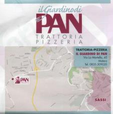 Menù turistico per Pasquetta 2015 alla pizzeria trattoria Il Giardino di Pan - Matera