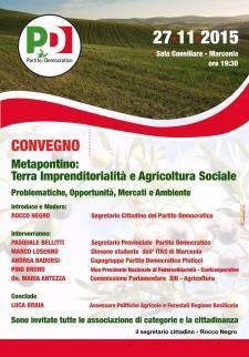 Metapontino: Terra Imprenditorialità e Agricoltura Sociale  - 27 Novembre 2015 - Matera