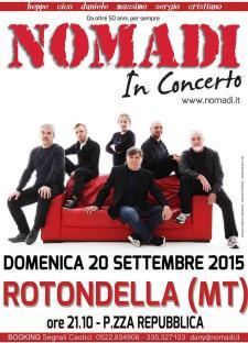 Nomadi in concerto - 20 Settembre 2015 - Matera